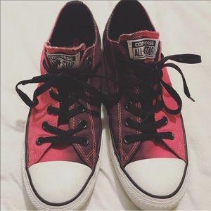 Converse pink ombré low tops woman Sz 9
